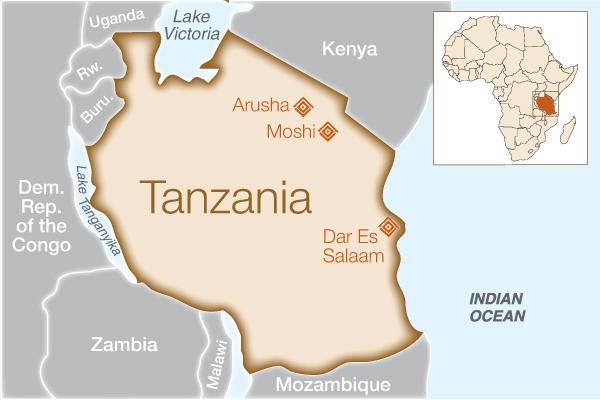 Fistula Foundation: Tanzania - Map