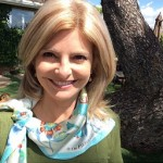 Supporter Lisa Bloom sporting our Serafina scarf