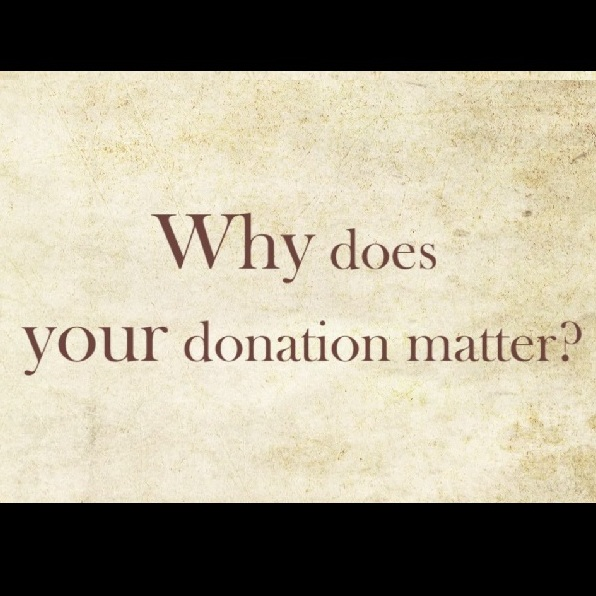 Why does your donation matter?
