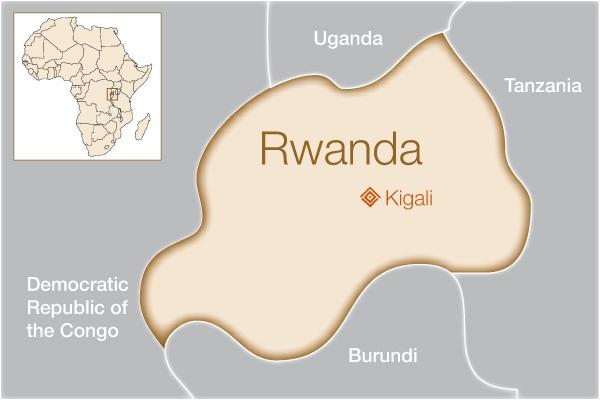 Fistula Foundation: Rwanda - Map