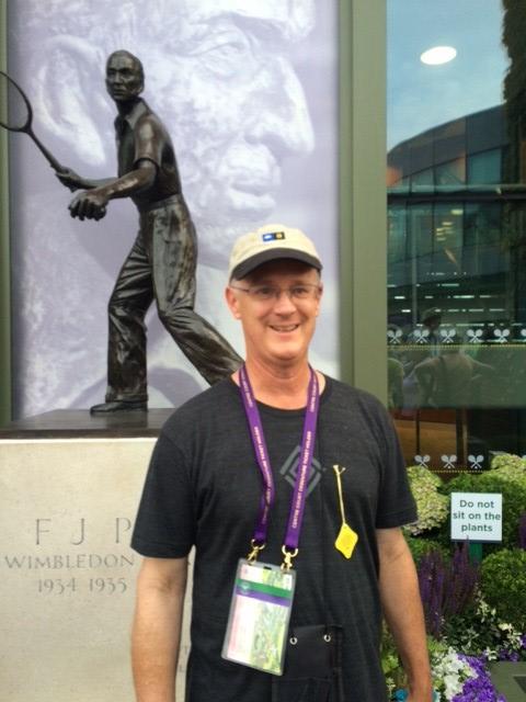 Supporter Roger Hamilton sported his diamond logo tee at Wimbledon!