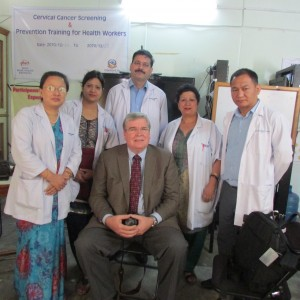 Steve visiting Kathmandu Model Hospital