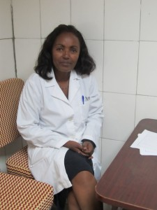 Dr. Mulu Muleta sits in her office at the Gondar University Teaching Hospital in Ethiopia.