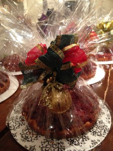 Sofia's packaged cranberry cakes.