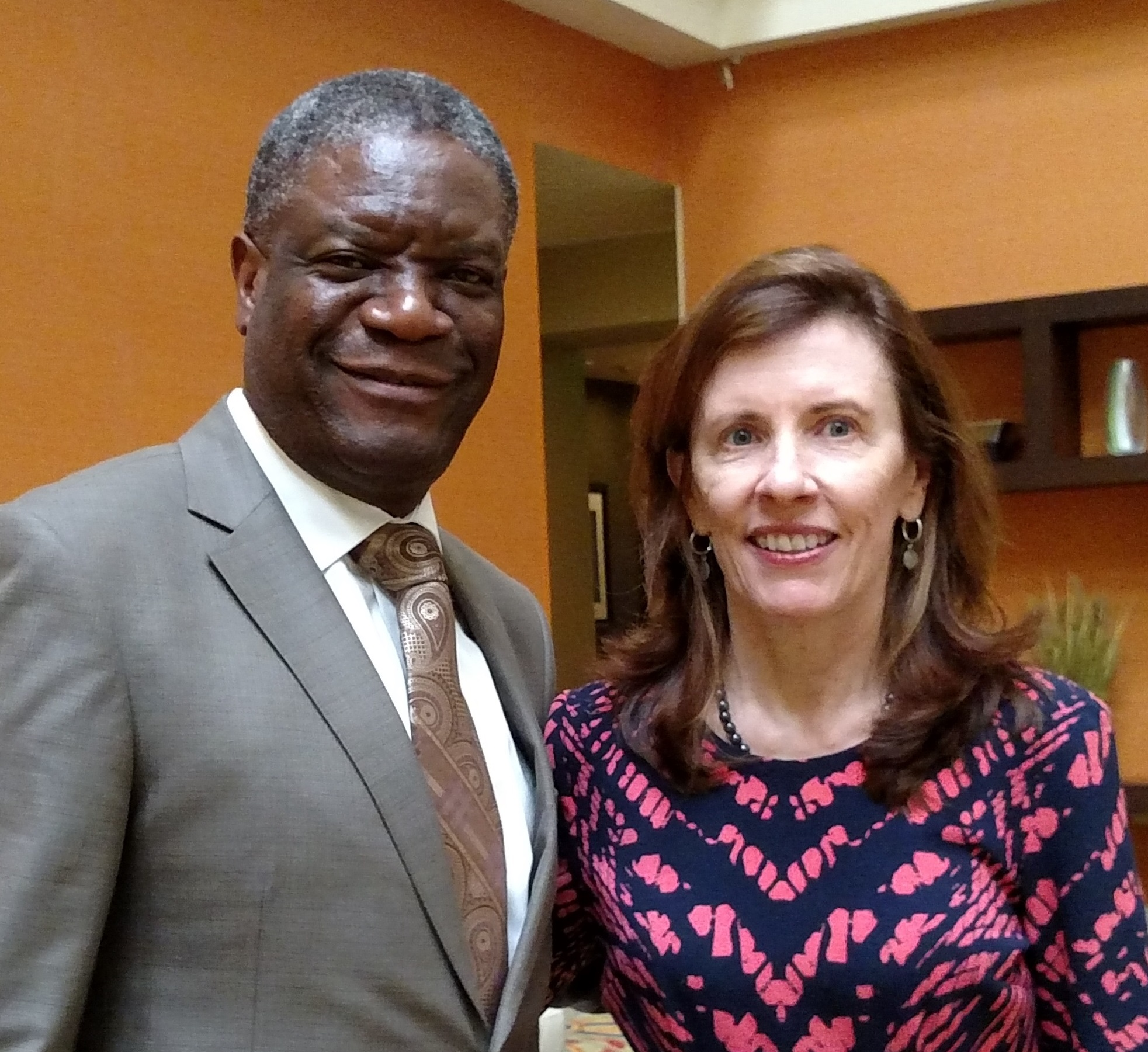 Dr. Denis Mukwege and Fistula Foundation CEO Kate Grant