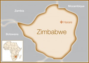 Your Donations at Work - Zimbabwe Map