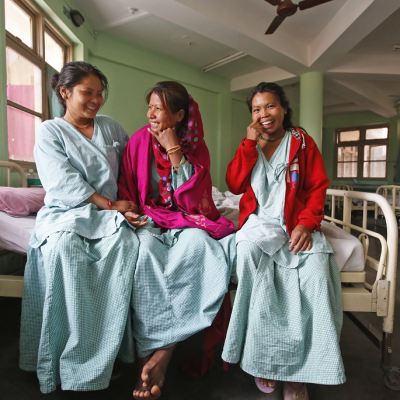 Nepal - smiling fistula patients
