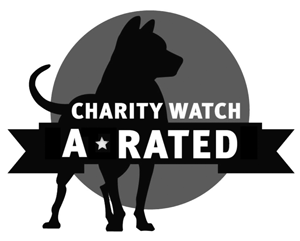 Charity Watch gives us an A rating