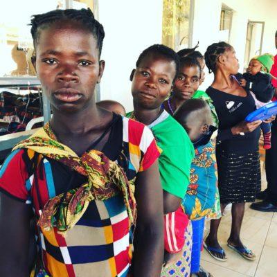 Women waiting for surgery in Zambia